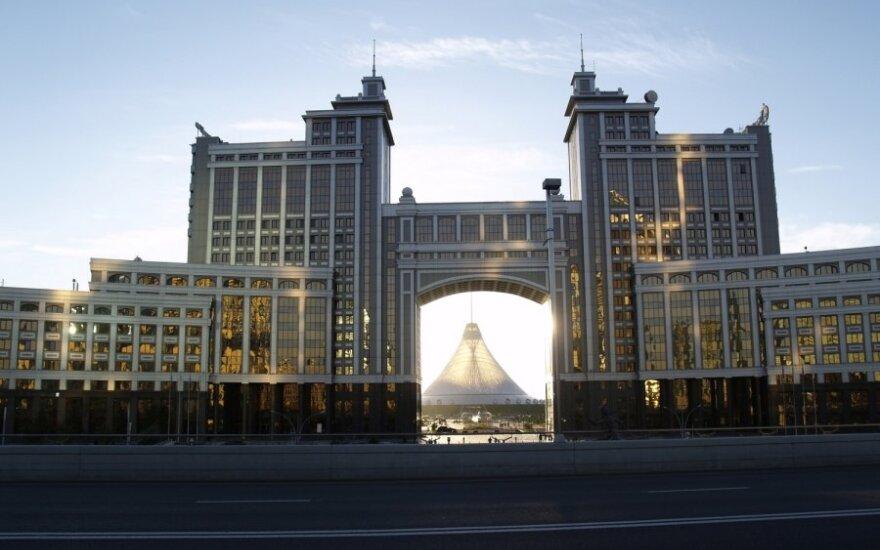 """Kazachstano nacionalinė naftos ir dujų bendrovės """"Kazmunaigaz""""  būstinė Astanoje"""