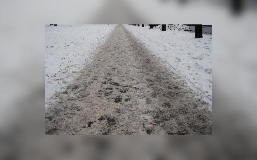 Условия на литовских дорогах сложные