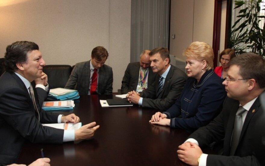 Baltijos šalių vadovai susitikime su Jose Manueliui Barosso