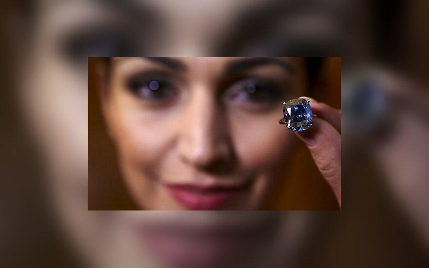 Редчайший в мире синий бриллиант продан за рекордные 48 млн. долларов