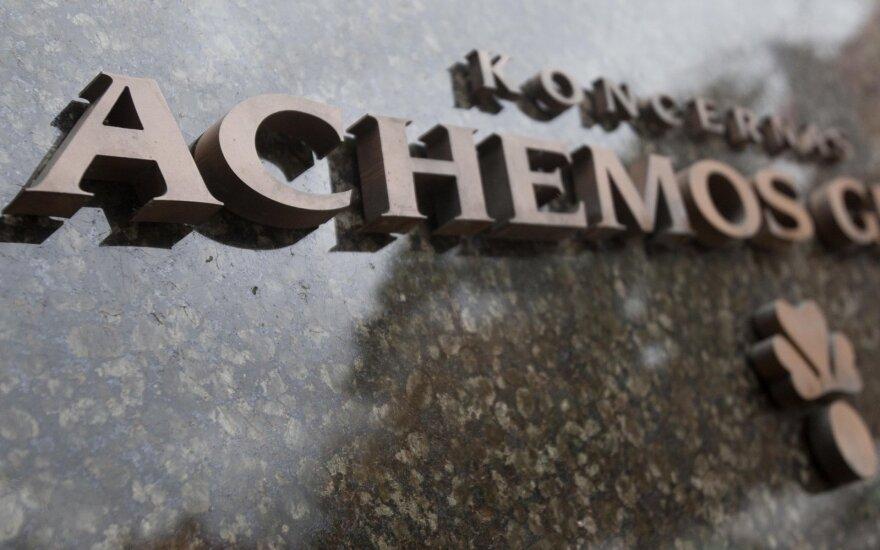 Выручка Achemos grupe в прошлом году упала на 15%