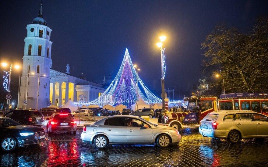 В новогоднюю ночь в Вильнюсе временно будет ограничено движение транспорта