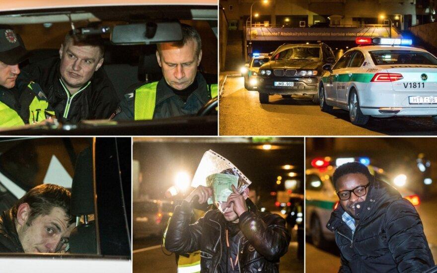 После полуночи в Вильнюсе полиция фиксировала нарушения