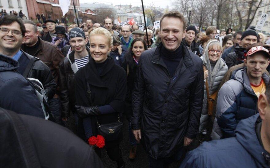 Aleksejus Navalnas su žmona