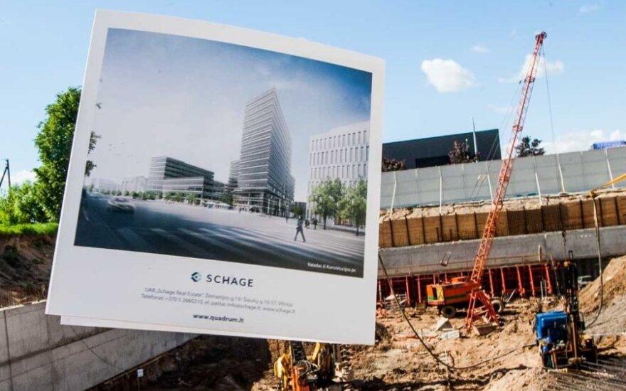 В Вильнюсе начато строительство бизнес-центра за 260 млн. литов