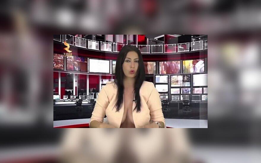 Сексапильная албанская телеведущая потеряла работу диктора