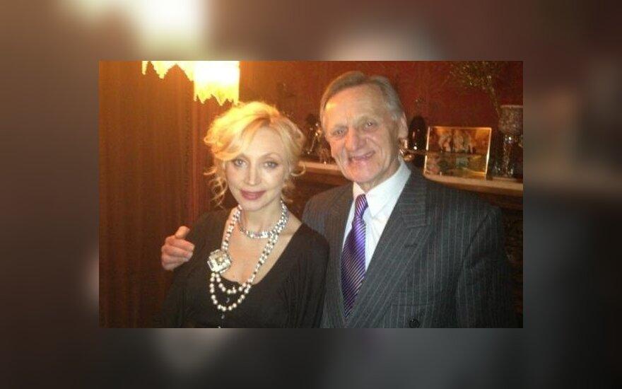 Kristina Orbakaitė ir tėvas Mykolas Orbakas