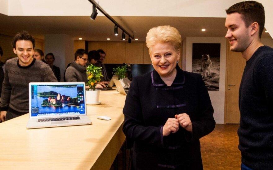 Президент: у Литвы есть чемпионы в области информационных технологий