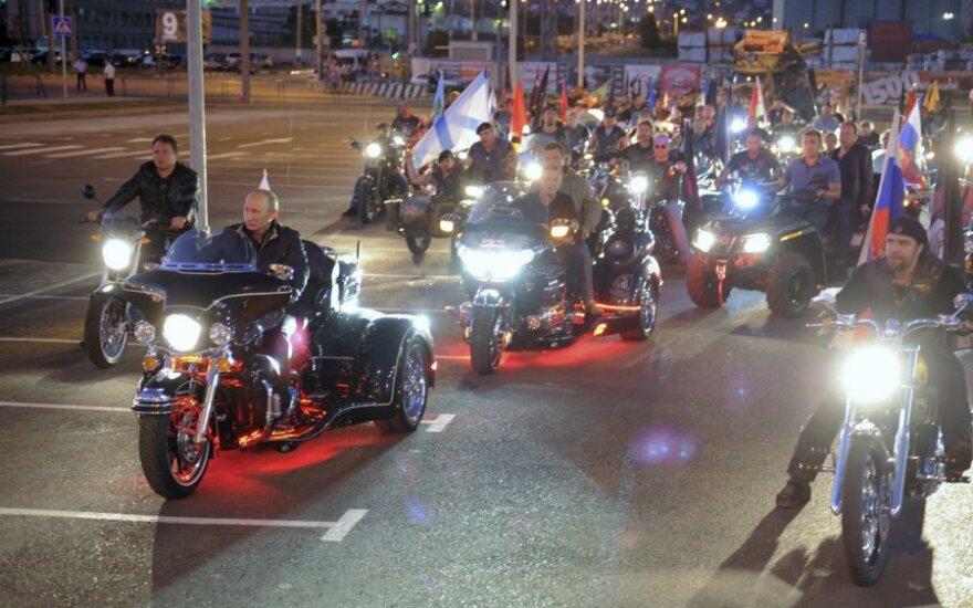 V.Putino rinkimų kampanija prasidėjo pasivažinėjimu motociklais