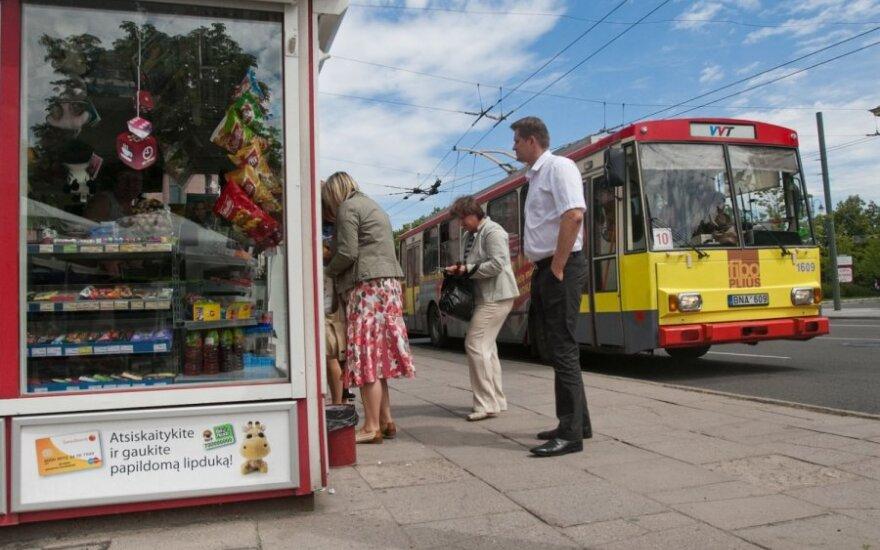 """Ларьки встречают вильнюсцев надписью """"Билетов нет"""""""