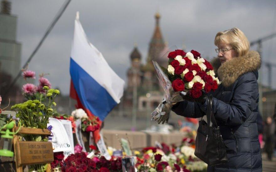 Rusijoje pagerbtas prieš 40 dienų nušautas B. Nemcovas
