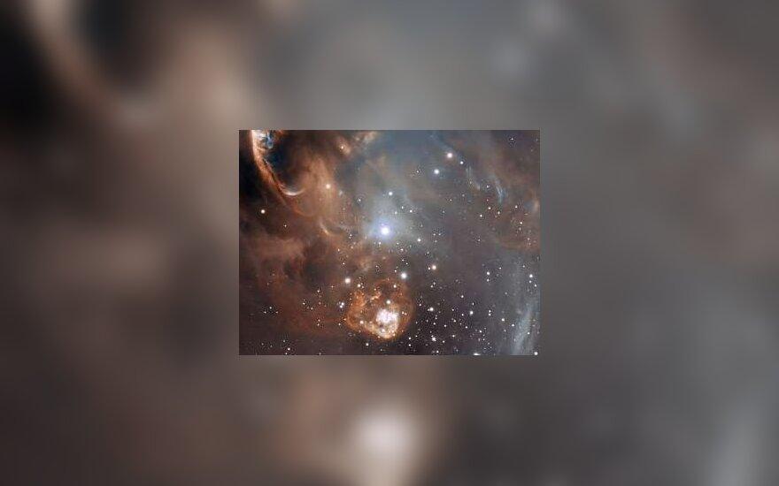 Фрагмент туманности NGC 6729. Изображение ESO