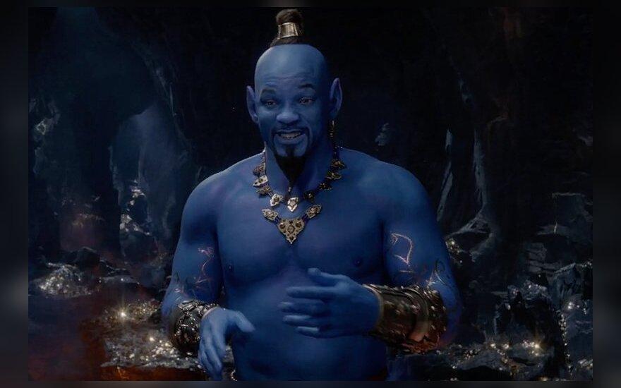 """ВИДЕО: Уилл Смит стал очень синим в трейлере """"Аладдина"""""""