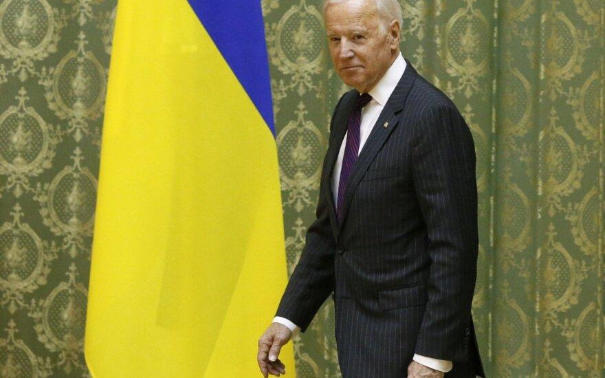 JAV viceprezidentas Joe Bidenas vieši Ukrainoje