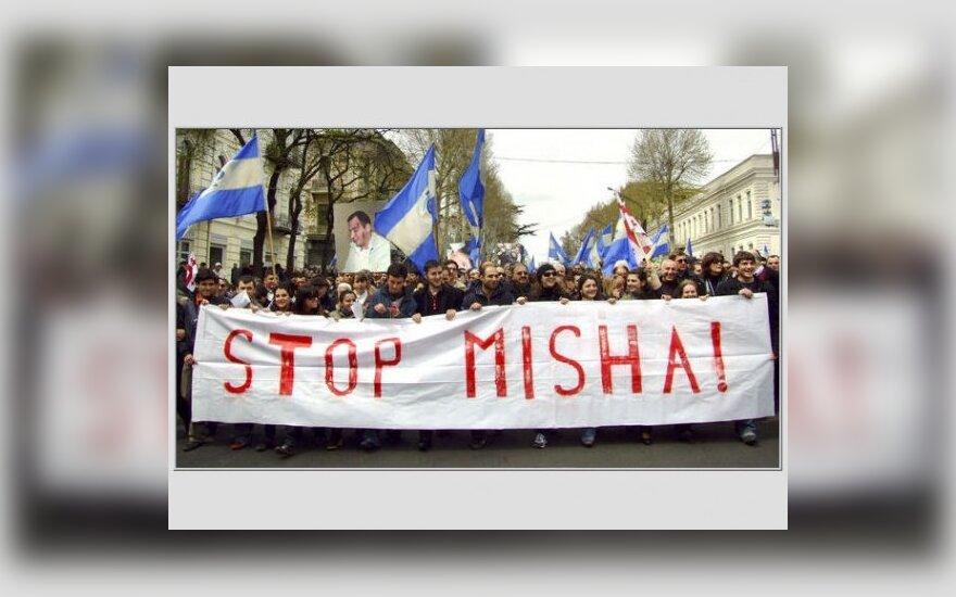 """Грузинская оппозиция поделила Тбилиси на """"зоны контроля"""""""