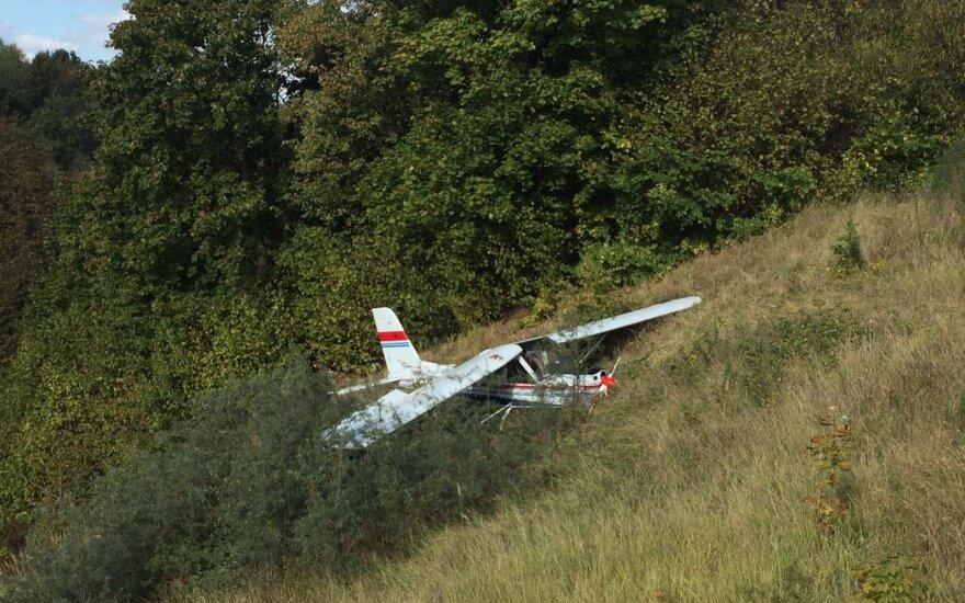 В Каунасе упал самолет
