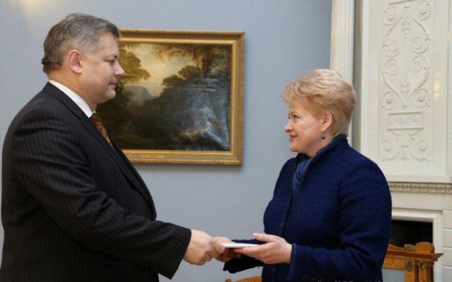 Президент вручила верительные грамоты новому послу Литвы в Беларуси