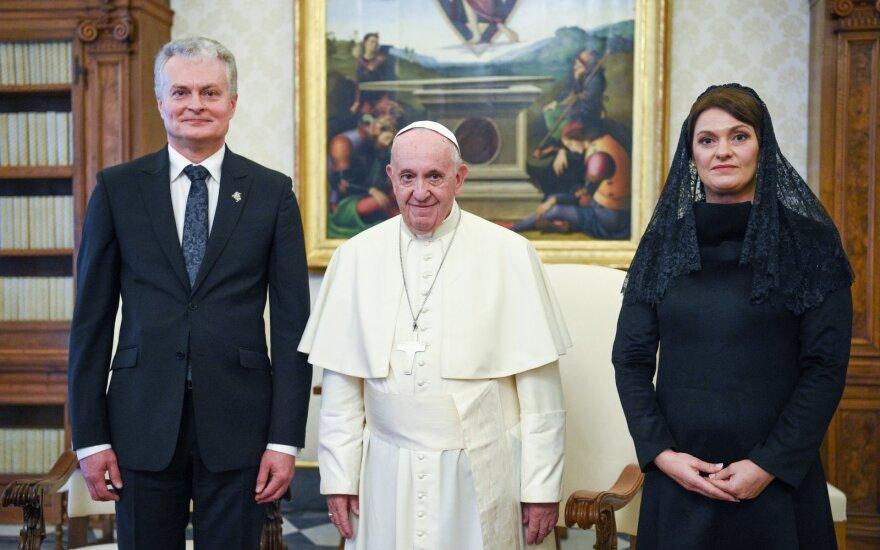 Gitanas Nausėda, Popiežius Pranciškus, Diana Nausėdienė