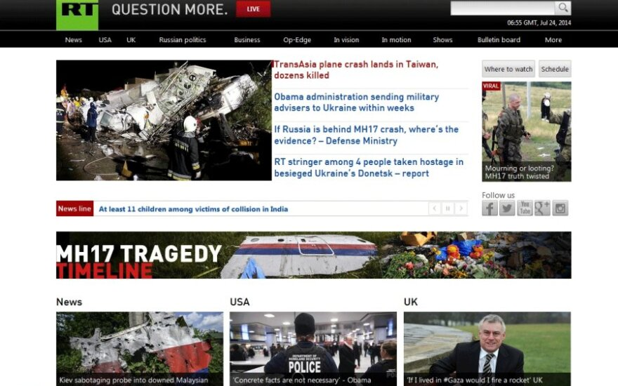 Во Франции арестовали имущество Russia Today и ТАСС