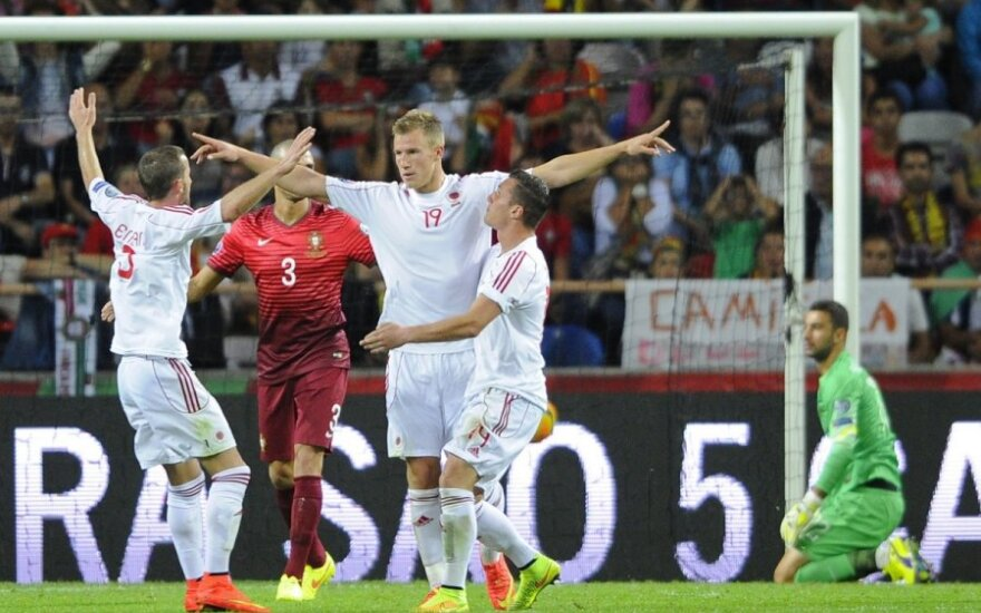 Albanijos futbolininkai išvykoje įveikė Portugaliją