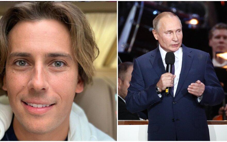 Maksimas Galkinas, Vladimiras Putinas/Instagram ir Vida Press nuotr.