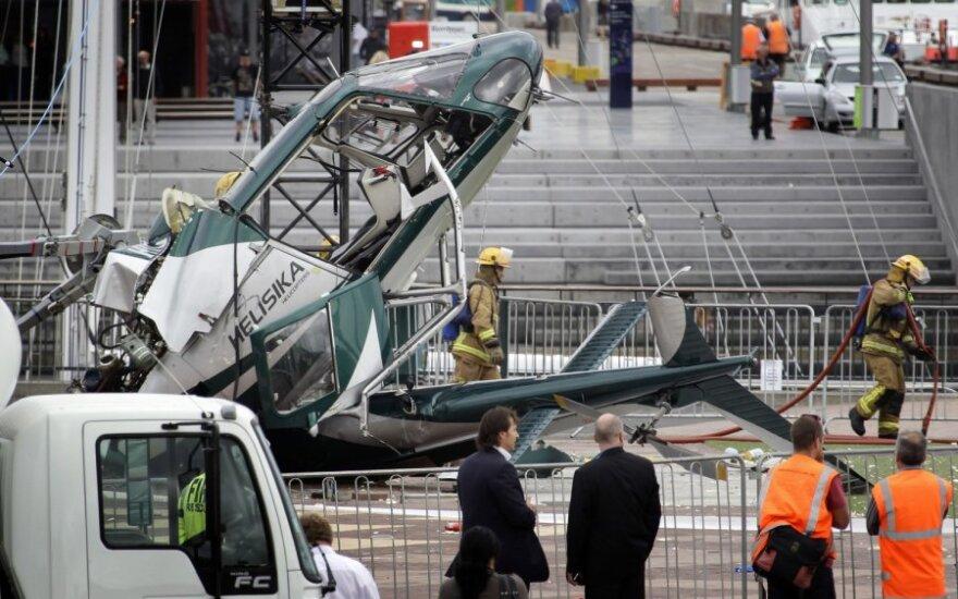 Televizija nufilmavo sraigtasparnio katastrofą mieste