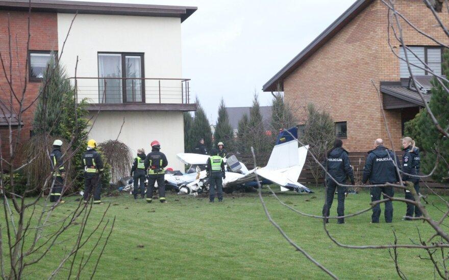 Lėktuvo avarija Kauno rajone, Noreikiškių kaime