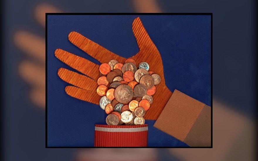 pinigai, grąžinama skola