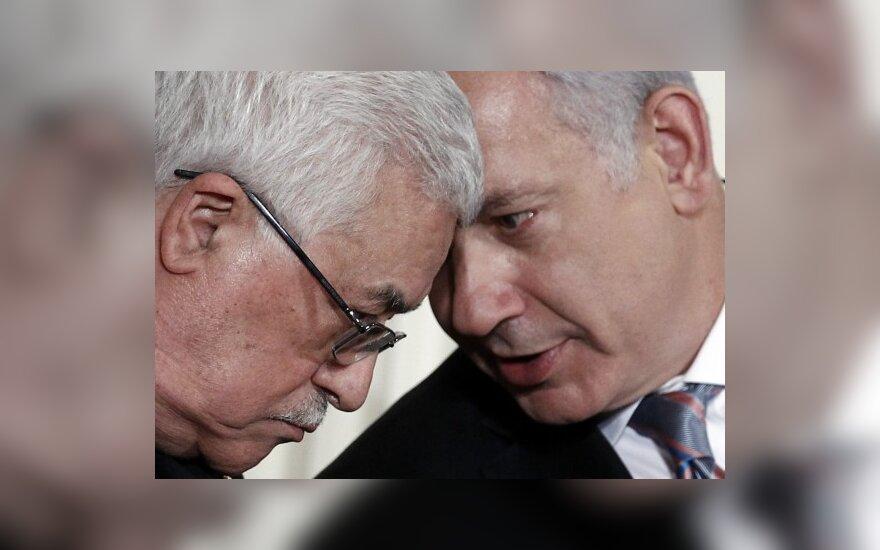 Mahmoudas Abbasas ir Benjaminas Netanyahu