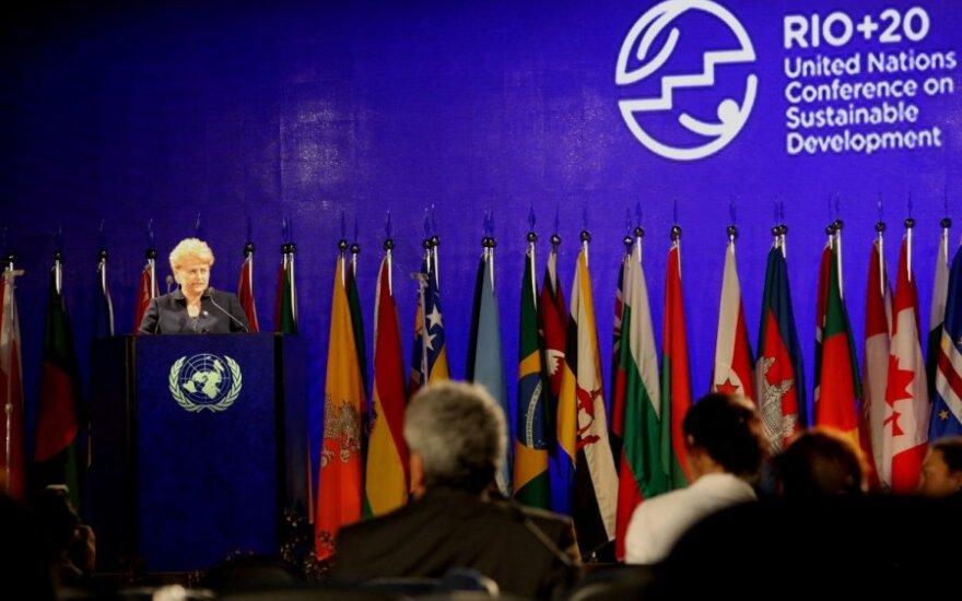 Грибаускайте: Литва способна находить баланс между ростом экономики и экологией