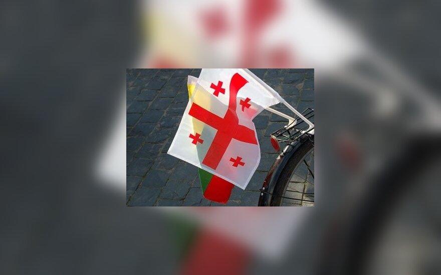 Gruzijos ir Lietuvos vėliavos