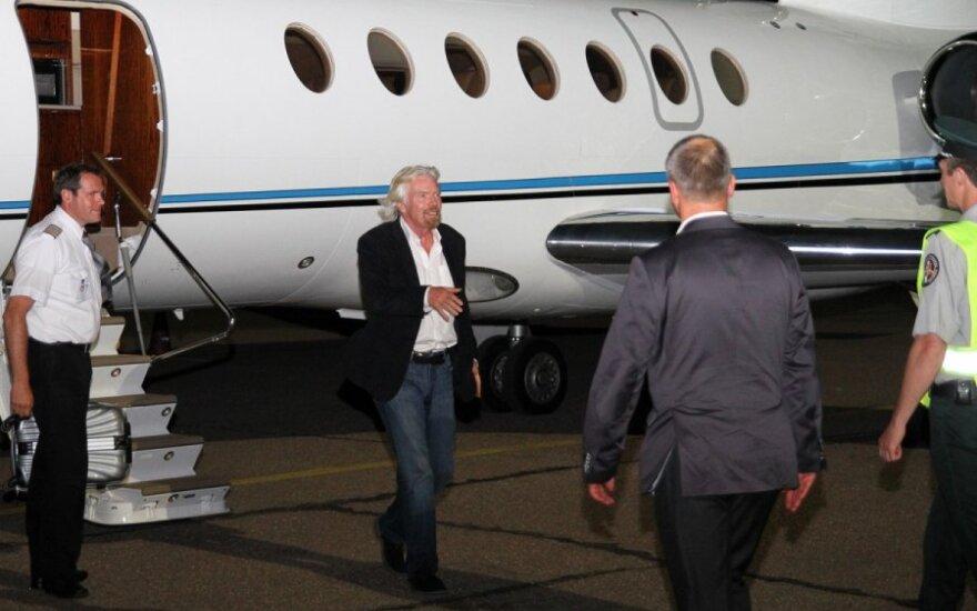 Milijardierius Richardas Bransonas atvyko į Kauną