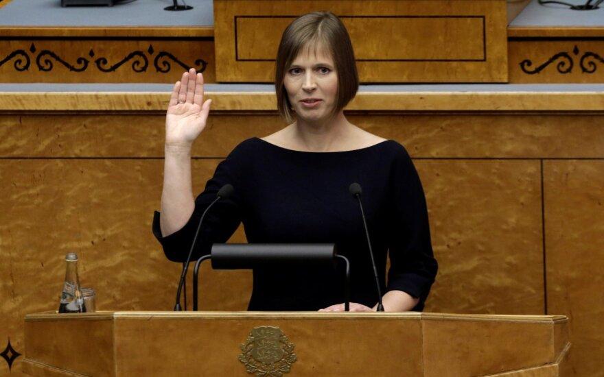 Новая президент Эстонии приедет в Литву