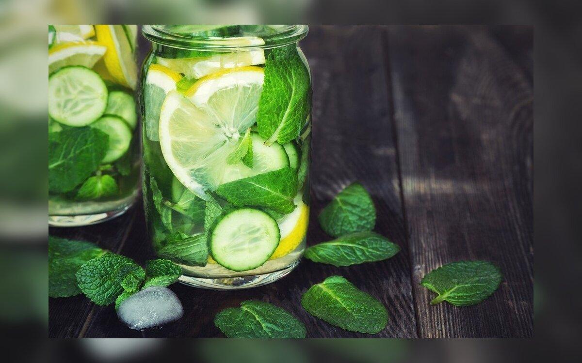 agurkų mėtų gėrimas svorio metimui