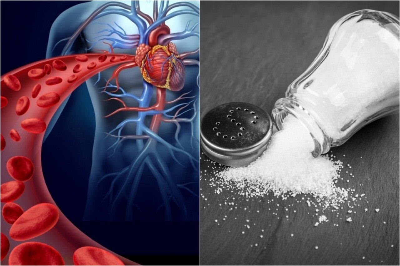 hipertenzijos vanduo ir druska
