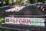 Street artists decorate concrete park in Vilnius' Old Town