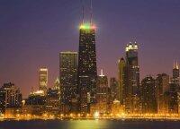 Net trys įspūdingi Čikagos pastatai nušvis trispalvės spalvomis