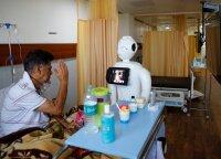 Ateitis jau čia: Indijoje robotai padeda kovoti su pandemija