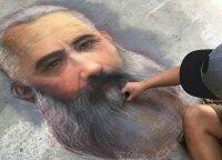 Pasitelkęs vaikų pamėgtą piešimo būdą, menininkas gatves paverčia muziejais