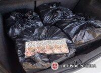 Pareigūnai pas šalčininkietį rado kontrabandinių rūkalų už 22 tūkst. eurų