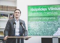 Dainiaus Kreivio rinkiminės programos pristatymas: kaip Vilnių paversti sveiku miestu