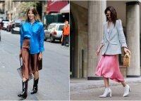 15 derinių, kaip skoningai segėti elegantiškus midi ilgio sijonus