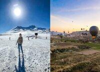 Unikali Turkijos vieta: čia turistus traukia saulės vonios, nors visai šalia – kalnai sniego