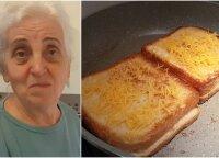 Močiutė rekomenduoja: itin lengvai pagaminamas kepto sūrio sumuštinis
