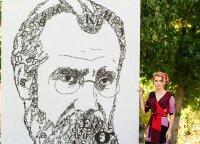 Vaitkutė JAV lietuviams pristatė Los Andžele gyvenusio signataro portretą