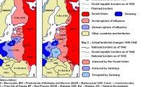 SSRS ir Vokietijos įtakos sferos pagal Molotovo-Ribbentropo paktą. econlog.econlib.org nuotr.
