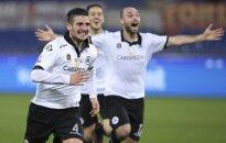 Spezia futbolininkai džiaugiasi