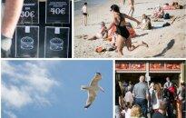 Tiek turistų Palangoje šiemet dar nebuvo, o kainos atima žadą: už mėsainį – 30 eurų