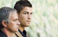 Jose Mourinho ir Cristiano Ronaldo