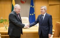 Russian Federation Ambassador to Lithuania Alexander Udaltsovand the Seimas' Speaker Viktoras Pranckietis